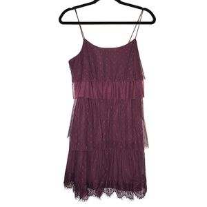NEW LC Lauren Conrad Wine Tasting Lace Dress S